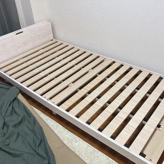 シングルベッド すのこ ホワイト