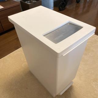 【美品】 2WAYオープンダストボックス(ゴミ箱)ホワイト