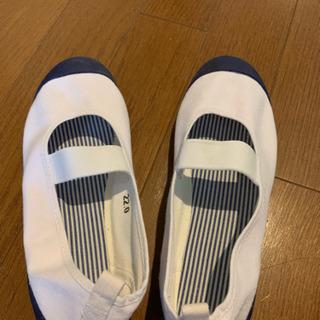 未使用、上靴ブルー