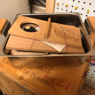 小型のおでん鍋 熱燗用木板付き