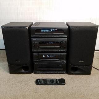 KENWOOD システムコンポ 6連CD/カセット/ラジオチュー...