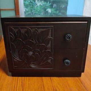 手彫り引出し 小物入れ BOX 手彫り 彫刻