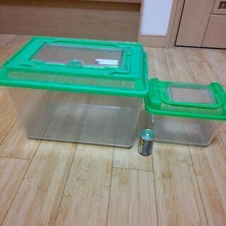 虫用の透明プラスチックケース 無料