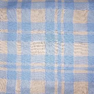ハギレ 青チェック 75.5cm×54cm