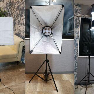 LED電球付 ソフトボックス 撮影用照明
