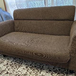 布張り二人掛けソファー