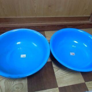 ●無料● 洗面器 レトロ ブルー(ユタカ)2個セット 差し上げま...