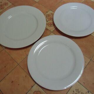 ●無料● 白系 無地 シンプル お皿 3枚 セット 差し上げます...