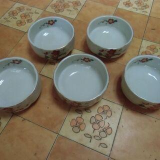 ●無料● 梅 デザイン 小鉢 5枚 セット 差し上げます。*石川...