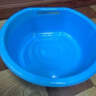 ●無料● プラスチック 洗い桶 ブルー 片側水切り付 差し上げま...
