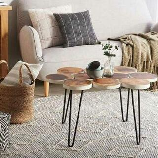 ウッド テーブル 海外ブランド 幅約79cm インダストリアル ...