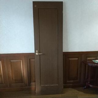 部屋用扉  鍵付き 一枚板材