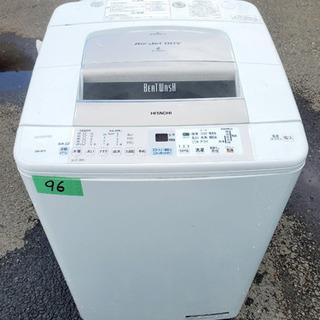③‼️9.0kg‼️96番 HITACHI✨日立全自動電気洗濯機✨BW-9PV‼️の画像