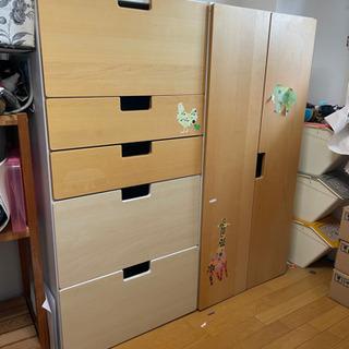 【ネット決済】IKEA 子供用クローゼット タンス Stuva ...