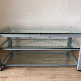 ガラス製テレビボード