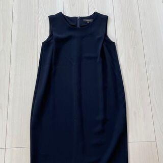 Demi-Luxe BEAMSノースリーブワンピース(紺色)