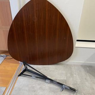 ガルト デスク テーブル 机 三角 アイアン脚 スチール