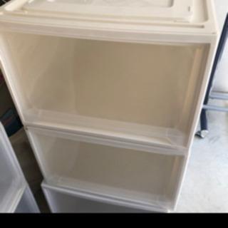アイリスオーヤマ クリアボックス 収納 2個