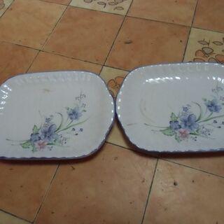 ●無料● 平皿 お花デザイン 2枚セット 差し上げます。*石川県...