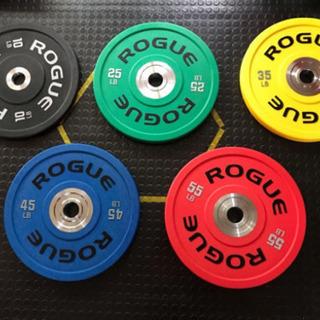 ROGUE バンパープレート 45LB(約22kg)と55LB(...