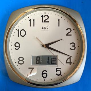 壁掛け時計 LCDカレンダーあり