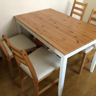 【ネット決済】IKEAにて購入 ダイニングテーブル&チェア 9月中旬渡
