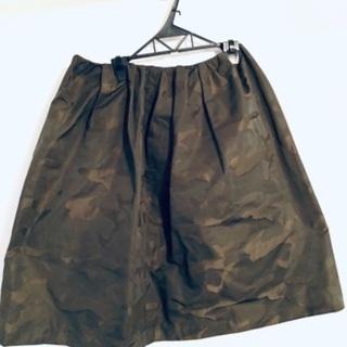 日本製)迷彩柄キュートなスカート