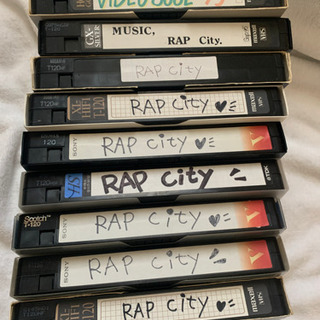 RAP city の録画VHSのビデオテープ(9本)