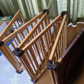【ネット決済】木製フレックスサークル くぐるっと 日本育児 ベビ...