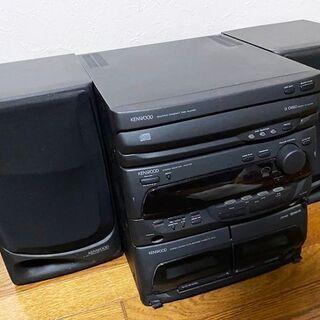 ケンウッド ミニコンポ 3連CDチェンジャー ダブルカセット ス...