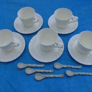 ★新品同様!★ コーヒー、ティーカップ 5脚 セット