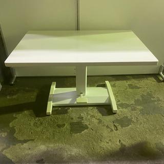 テーブル 高さ調整可 白 会議 ミーティング 菊NS