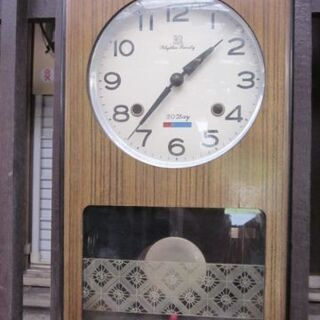 ★Rhythm  Family   レトロ 柱時計  稼働品
