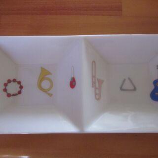 香蘭社 楽器の絵柄 長方形の小皿