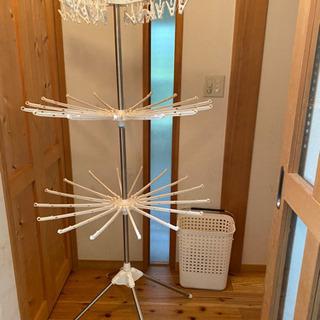 室内干し3段 洗濯カゴセット