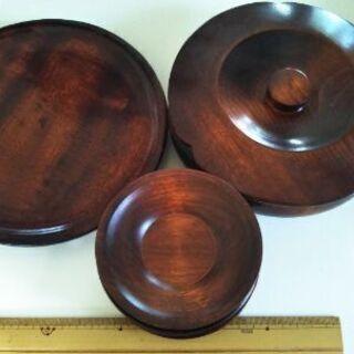 木製お茶菓子セット
