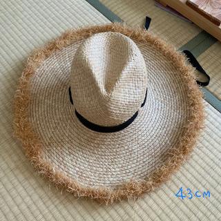 韓国女優着用 大きいサイズ麦わら帽子