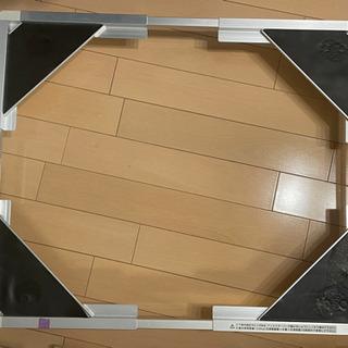 洗濯機の下に敷く嵩上げフレーム(キャスター付き)