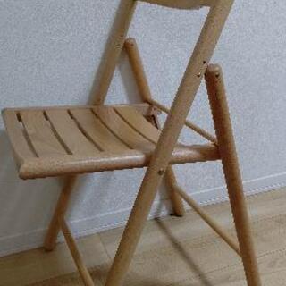 【ネット決済】【無印良品】折り畳みできる木製の椅子