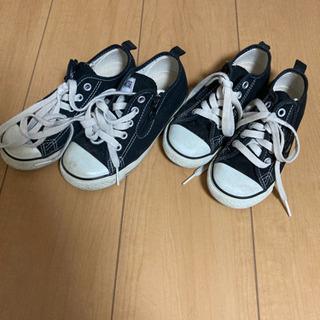 兄弟でconverseの靴