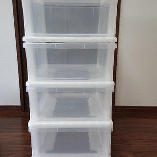 プラスチック製の引き出し付収納ケース売ります。