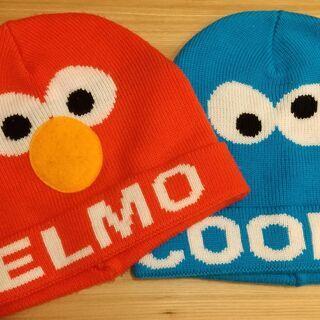 ニット帽 セサミストリート エルモ クッキーモンスター