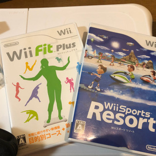 Wii本体(黒)  ソフト2本、WiiFitつき!