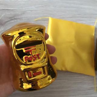 新品 ポスト 貯金箱 ゴールド 非売品