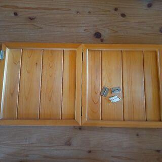 建具 棚の戸 木製扉 2枚セット 34.5cm角