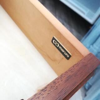 【値下げしました】maruni マルニ テレフォンベンチ グリーン 引出し付き 地中海シリーズ レトロ アンティーク  - 家具