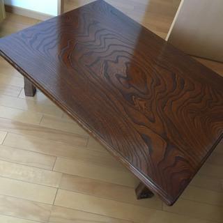 テーブル 和 ちゃぶ台 折りたたみ式 使用浅 美品