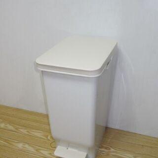 【ネット決済・配送可】jtp-0551 ゴミ箱 ペダル付き コロ付き