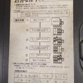 ナショナル スケジュールクオーツ 掛け時計 アナログデジタル両表示  - 家具