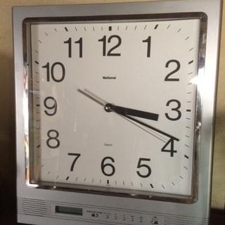 ナショナル スケジュールクオーツ 掛け時計 アナログデジタル両表示 の画像